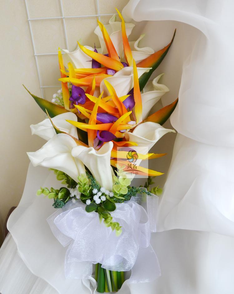 Artificial flowers PU bird paradise strelitzia reginae for