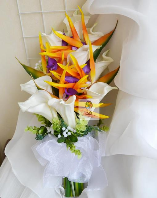Artificial flowers PU bird paradise strelitzia reginae for wedding ...
