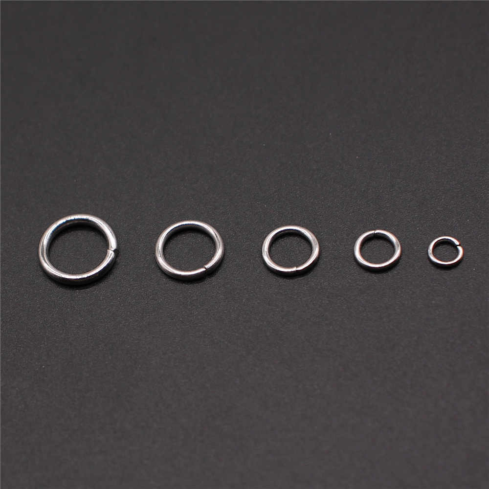 100pcs 3mm 4mm 5mm 6mm 7mm Stainless Steel Jump Rings & Split Ring For DIY Jewelry Making Jewelry Findings & Components