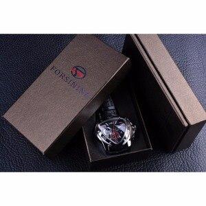 Image 5 - Jaragar sport racing design triângulo geométrico piloto couro genuíno masculino relógio mecânico topo da marca de luxo relógio de pulso automático