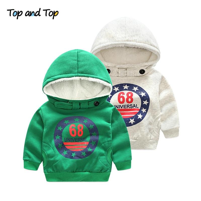 Cartoon 6 8 Baby Boys Girls Kids Coat Hoodie Jacket  Pullover Outwear Boys' Hoodies