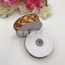 Wire Bandwidth Digital Printing Clothing Material Accessories Sublimation Line Fruit Orange Lemon Series Ribbon