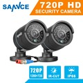 SANNCE 2pcs 720P 1.0MP CCTV security cameras in Surveillance CCTV system TVI HD DVR kit Waterproof outdoor Cam