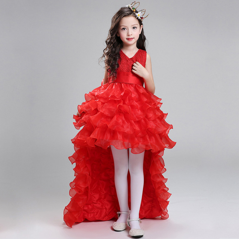 Retail Flower Girl Dresses For Weddings Elegant Trailing Gown Girls ...