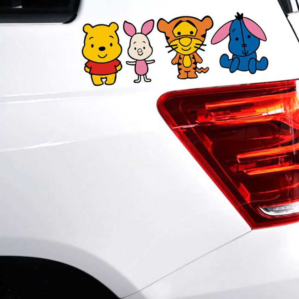 Car sticker design family - Car Styling Lovely Cartoon Winnie The Pooh Family Car Sticker And Decal For Volkswagen Golf