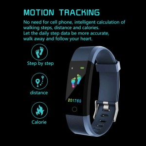 Image 4 - 115plus Fitness Smart Wristbands Color Screen Sports Smart Bracelet Digital Clock Pressure Gauge Multi language Bluetooth Band