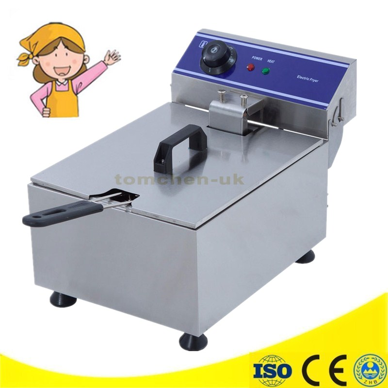 Luxury 10 Liter 220V Commercial Deep Fryer French Fries Fryer Chicken Potato Chips Deep Fry Machine shipule fast food restaurant 30l commercial electric chicken deep fryer commercial potato chips deep fryer frying machine