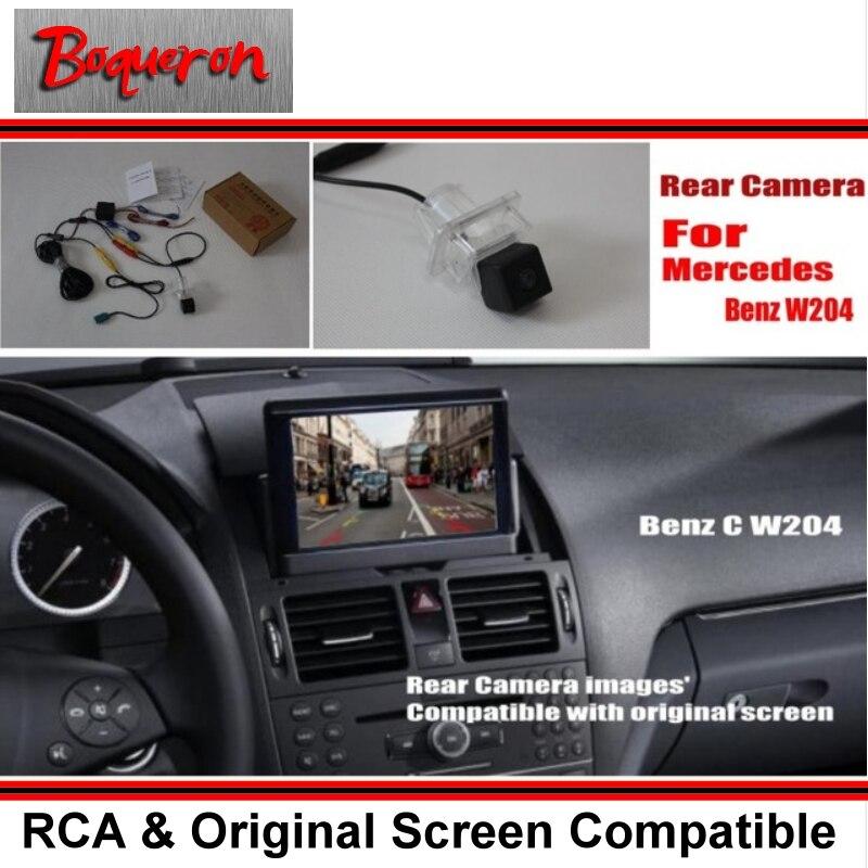 imágenes para Conjuntos de Cámara De Visión Posterior del coche Para Mercedes Benz Clase C W204 2007 ~ 2014/Copia de seguridad de Cámara de Marcha Atrás/RCA y Pantalla Original
