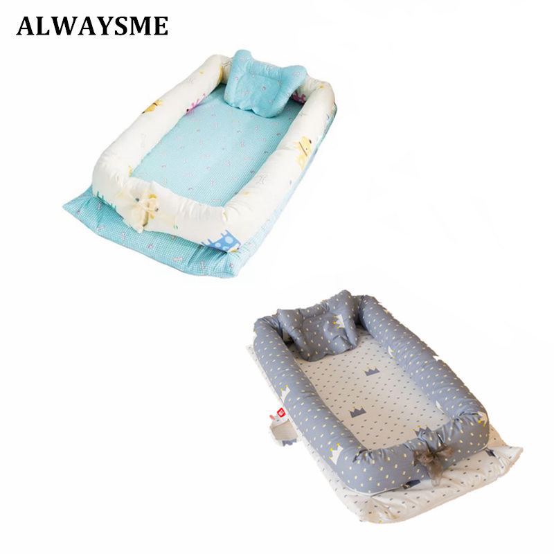 Alwaysme Baby Kids New Infant Co-sleeping Cribs & Cradles Bedside Cribs Moses Baskets Portable Cribs Toddler Beds Travel Beds