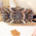 New LUXURY GEM Diamond Flower Crystal Evening Clutch Bags Hot Styling Day Clutches Lady Wedding Purse Bags Bolsa De Festa YM1142