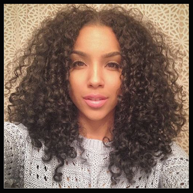 middle part hair style middle part fashion hairstyle curly lace wig 8449