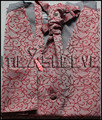 Оптовая Бесплатная доставка Одноместный Груди Мужчины Жилет Жилет красный и щепка pattern Жилет (жилет + галстук-бабочка + Платок + запонки)
