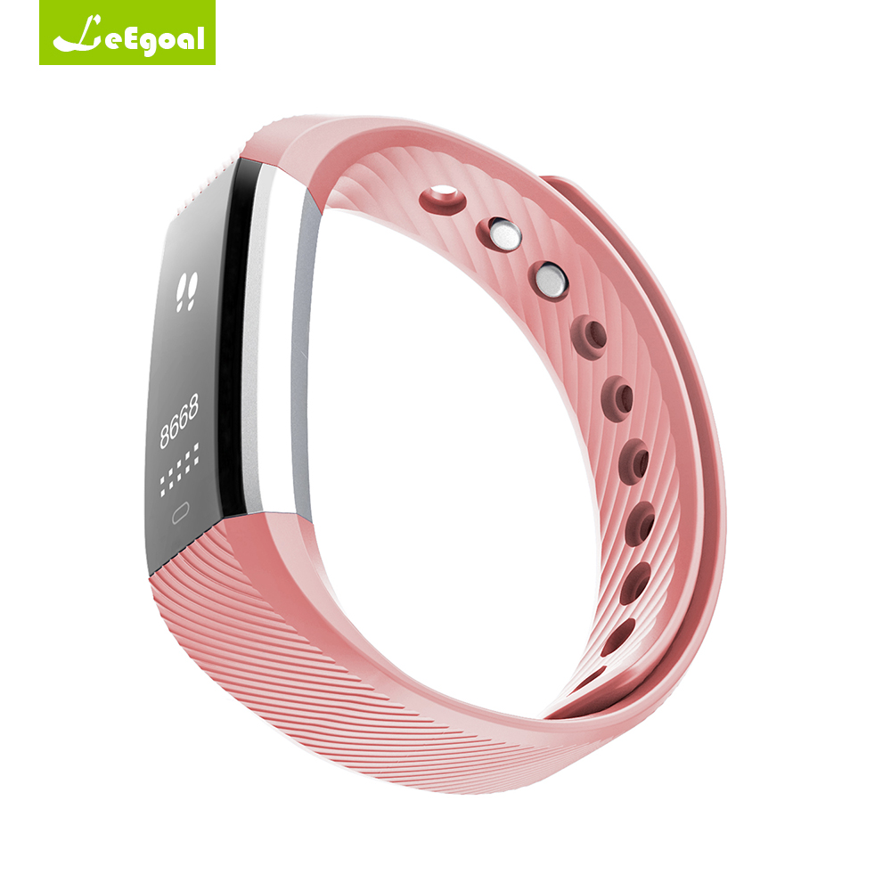 ID115HR Smart Bracelet Fitness Tracker Step Counter Activity Monitor Alarm Clock Vibration Wristband for iphone Android