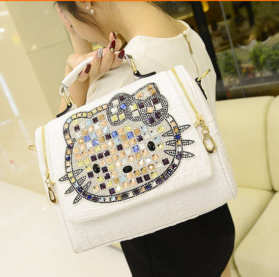 2564446f8 2018 Luxury women female leather hello kitty bag handbags shoulder famous  brands designers crossbody bags for women bolso mujer-in Top-Handle Bags  from ...