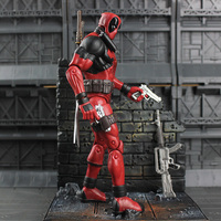 Marvel Select Figure Super Hero Deadpool Action Figure With Wall Special Edition Toy 18cm