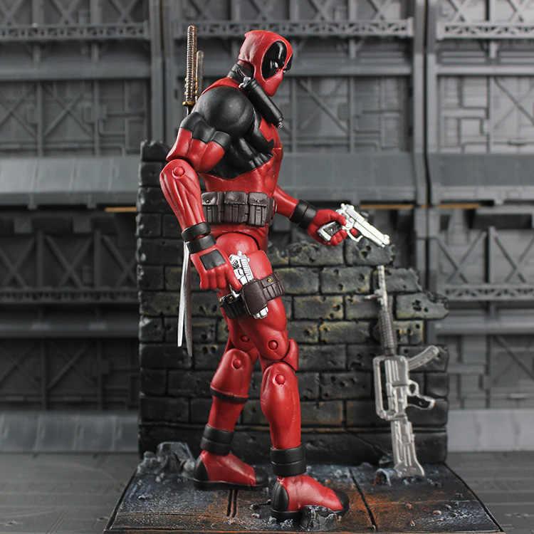Фигурка Marvel фигура супергероя боевик Дэдпул фигурка с стеной специальное издание игрушки 18 см