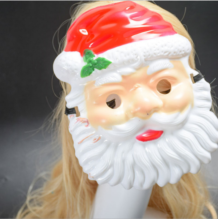 Christmas Cosplay Accessories Santa Claus Cosplay Mask Plastic Mask Kid Party Mask Halloween Cosplay Costumes Party Disguisement
