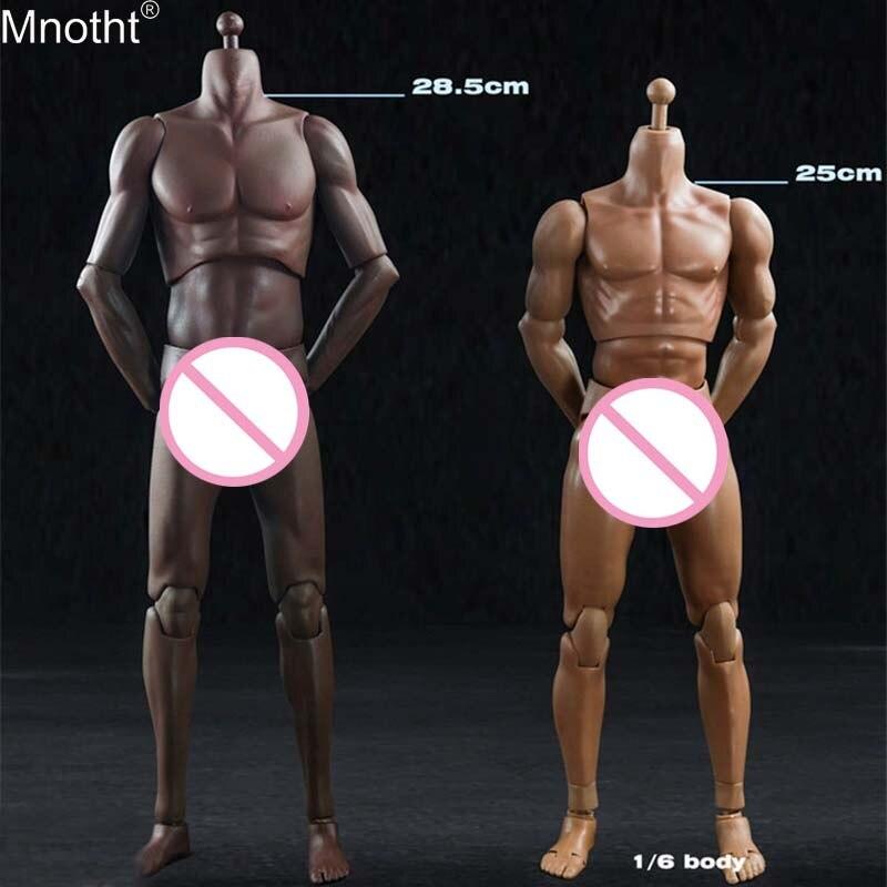 Mnotht 1/6 Super Sport ciała biały czarny skóry elastyczna mięśni mężczyzna ciała T01 T02 Model dla 12in zabawki żołnierz Action rysunek m6n w Figurki i postaci od Zabawki i hobby na  Grupa 1