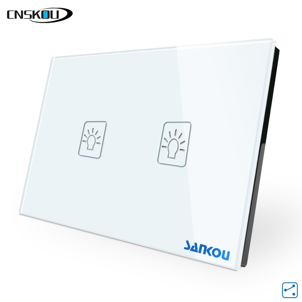 cnskou us  au standard 2gang 2way light wall touch switches