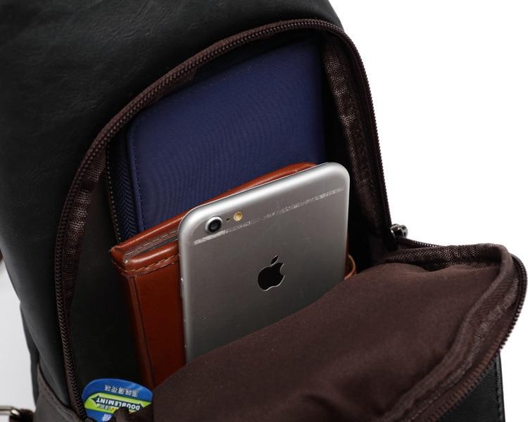 Topdudes.com - Vintage Fashion PU Leather Chest Bag