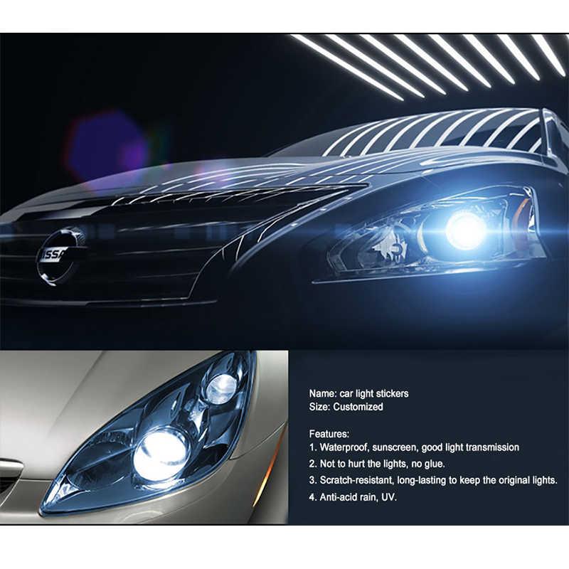 Car styling 13 Colors 30x100cm Car Light Headlight Taillight  Protect Film Sticker on Lamp Stickers Brake Light Accessories AJ