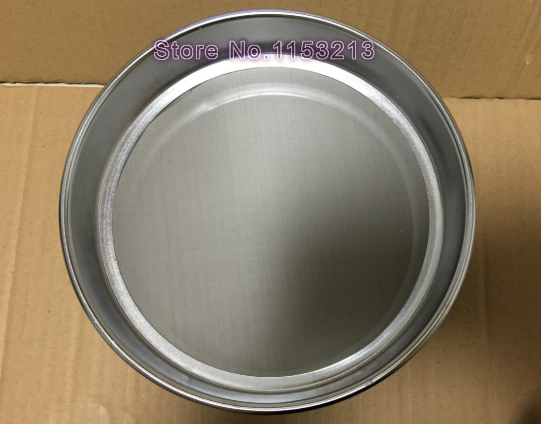 R30cm 600 mesh / Aperture 0.025mm Standard Laboratory Test Sieve Sampling Inspection sieve Pharmacopeia sieve height 7cm r30cm horticultural soil sieve stainless steel round hole screen aperture 5 200mm blueberries bodhisattva beads sampling sieve
