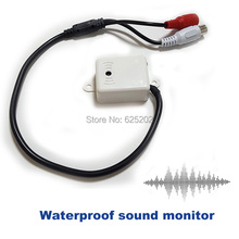 Security System Waterproof Sound Monitor for CCTV Camera Indoor and Outdoor USing