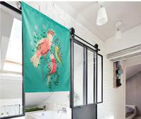 Nordic Shading Parrot Door Window Screen Hanging Curtain Home Decoration Bedroom Living Study Room Kitchen Cafe