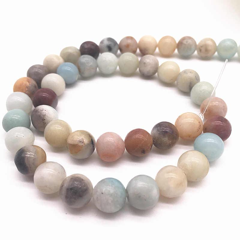 Großhandel 6mm 8mm 10mm Naturstein Perlen Lose Stein Perlen Für DIY Machen Armband Halskette Schmuck