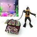 Treasure Hunter Diver Action Figure Fish Tank Ornament Aquarium Decor Landscape