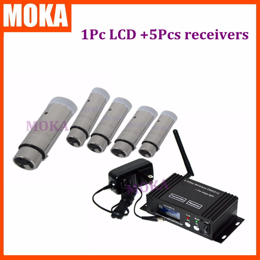 6 Pcs/lot Newly Developed DMX 512 Wireless Console Receiver Signal With XLR And PCB Board Charging Receiver Sender|signal enhancer|receiver fta|signal controller - title=