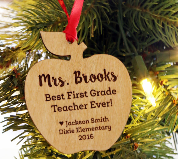 Aliexpress.com : Buy Personalized Teacher Christmas Gift Apple ...