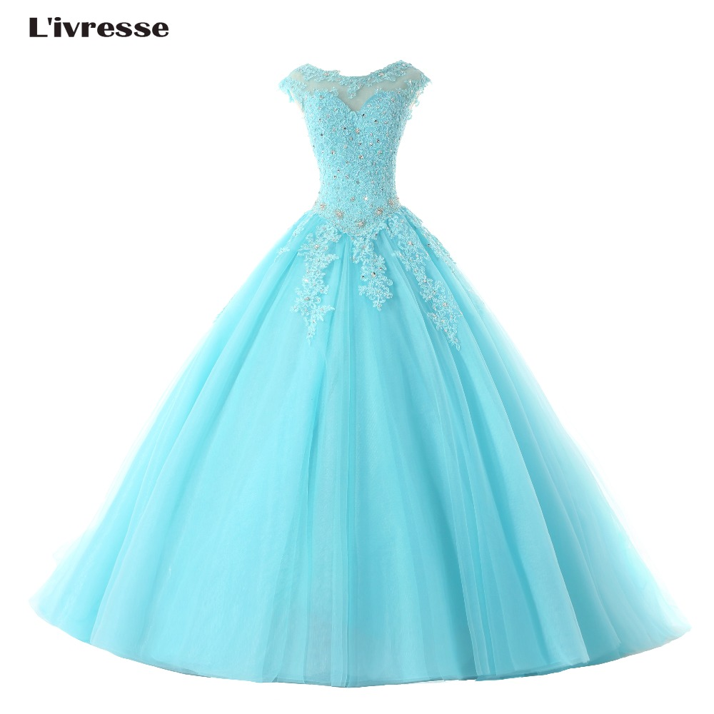 L 39 ivresse 2017 hot sale sexy blue prom dresses ball gowns for Wedding dresses for sale by owner