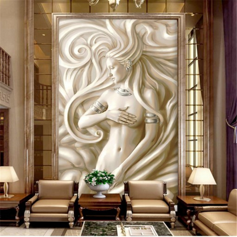 Beibehang Custom Wallpapers Beauty Nude Embossed Entrance Hall Aisle Background Wall Painting 3d Mural Wallpaper In From Home