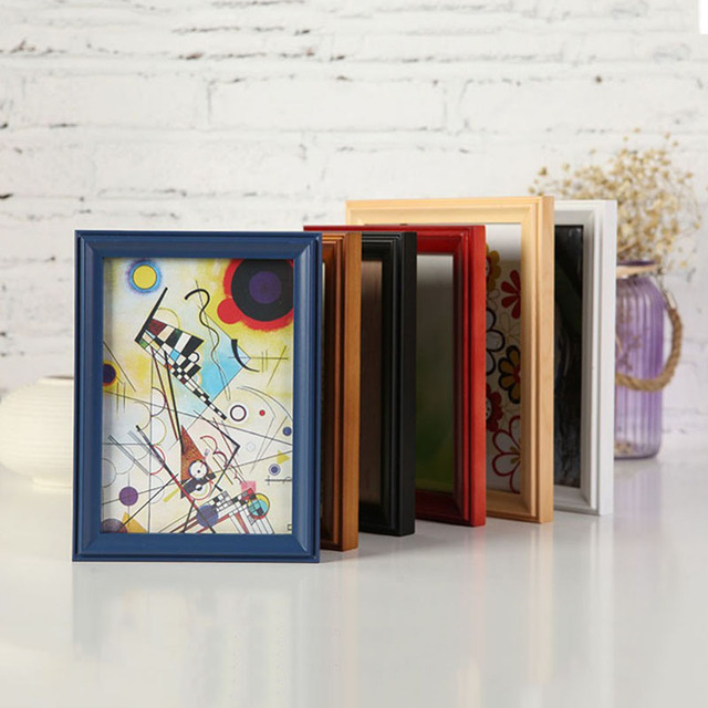 OS 8 Colors Rectangle Picture Frames Various Sizes Wooden Picture ...