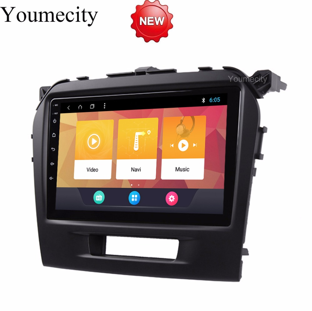 9 inch Android 8.1 Octa 8 Core 2G RAM 32G ROM Car DVD Player for Suzuki Vitara 2015 2016 2017 Radio GPS Navigation BT WIFI Map funrover 9 hd quad core ram 2g android 8 0 car navigation gps player for suzuki sx4 2006 2013 wifi rds radio bt fm usb no dvd