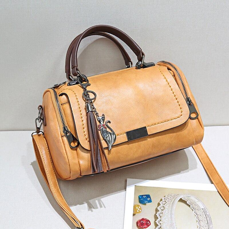 2018 PU sacs à bandoulière petites femmes sacs à main marque de mode Messenger sacs solide couverture sac à bandoulière fourre-tout sac à main - 5