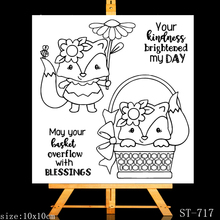 AZSG Cartoon fox Clear Stamps For DIY Scrapbooking Rubber Stamp/ Seal Paper Craft Clear Stamp Card Making winter fox clear stamp set lawn fawn