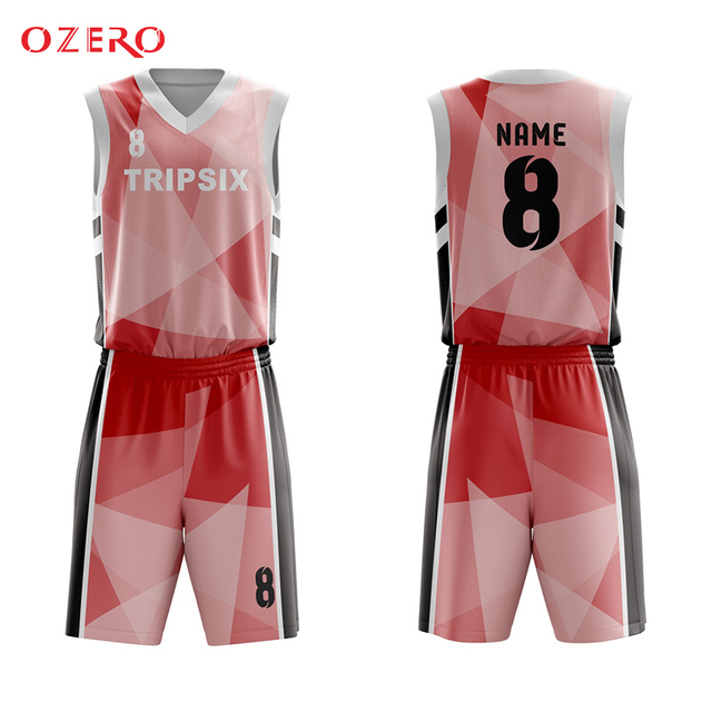 226aed8080e profesional make pink and black sublimated basketball game jersey set design