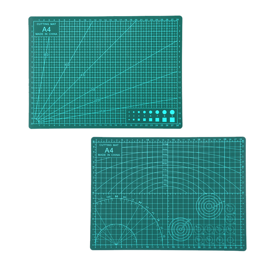 Green High Quality Design Multipurpose Builders Double-sided PVC Cutting Mat 22x30cm