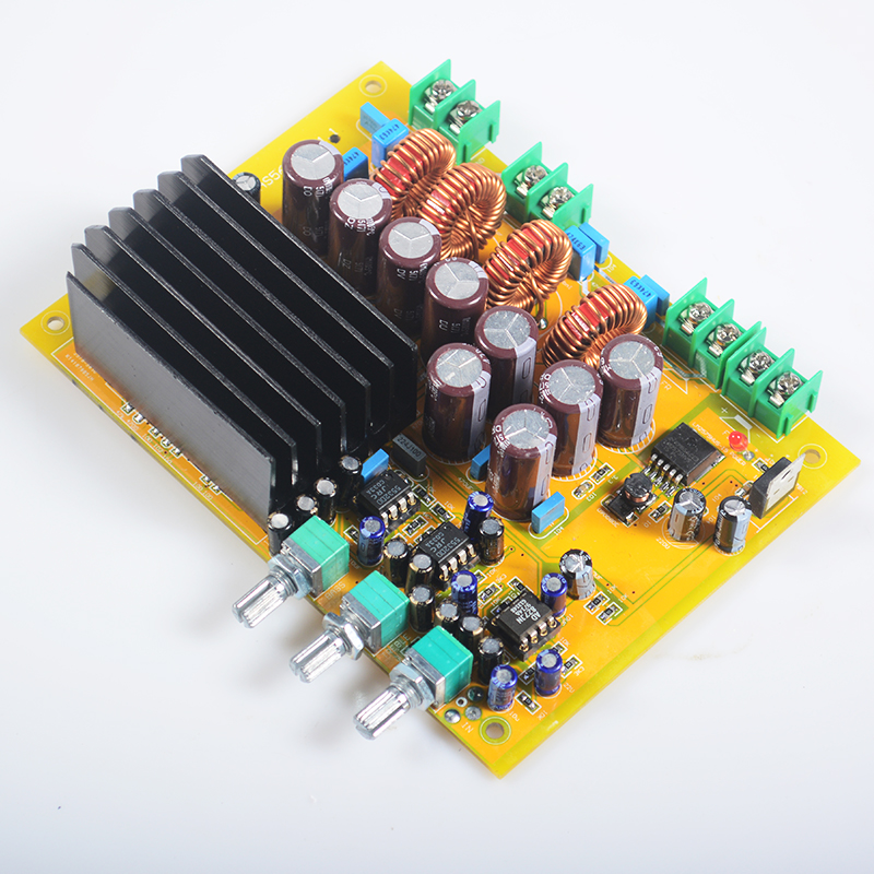 K.GUSS 300W + 150W * 2 TAS5630 NE5532 *2 AD827 2.1 HIFI AUDIO Class D High Power Digital Amplifier Board Subwoofer new the wind tas5630 2 1 home audio power amplifier 150wx2 300wx1 g3 006
