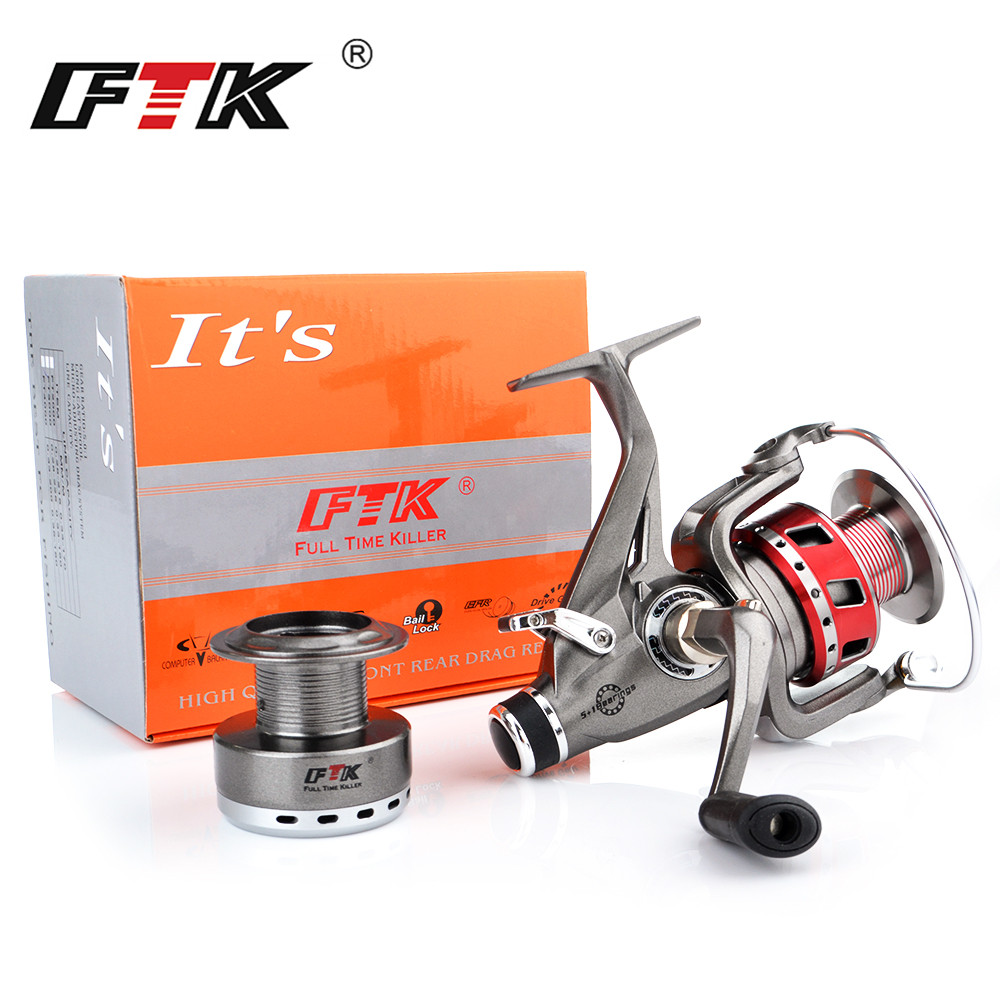 FTK Spinning Reel 5+1BB 4.6/5.0:1 2000-6000 Body Saltewater Carp Fishing Reel