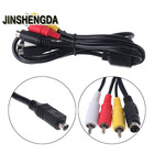 JINSHENGDA Audio Video Cable VMC-15FS A/V TV Out Audio Video Cable for Sony Camcorder Handycam DCR Series