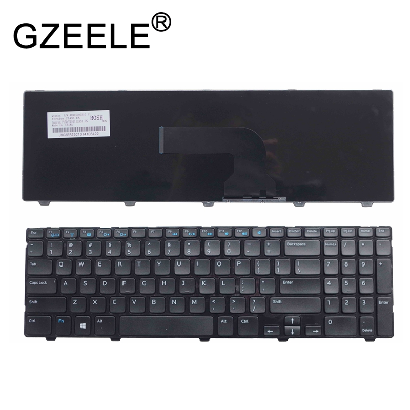 GZEELE English Laptop Keyboard For Dell Inspiron 15 3521 15R 5521 15 3537 0YH3FC YH3FC Laptop Keyboard US Frame BLACK