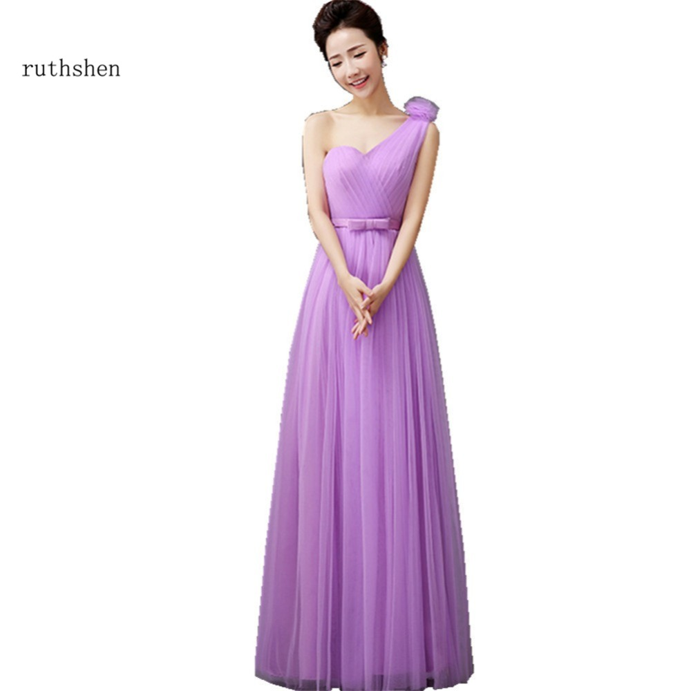 Ruthshen Purple Bridesmaid Dresses 2018 One Shoulder
