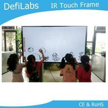 DefiLabs Лучшая цена 50 дюймовая сенсорная Рамка-10 точек для рекламы, Интерактивная Настенная быстрая