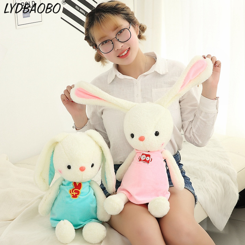 Bright Lydbaobo 1pc Cartoon Kawaii Rabbit Stuffed Cotton Plush Toys Bunny Lovely Animals Soft Dolls Birthday Gift For Children Kids To Prevent And Cure Diseases