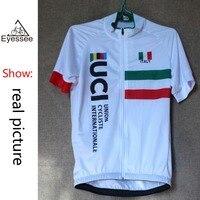 2018 Eyessee pro fiets kleding Tour van Italië fietsen Jerseys Ciclismo hoge kwaliteit korte mouwen nationale vlag fiets jersey
