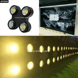 (12 lot/CASE) oświetlenie zewnętrzne led publiczności fartuchów 4 sztuk led cob blinder matrycy blinder ip65 cob 4 oczu publiczności światła flycase
