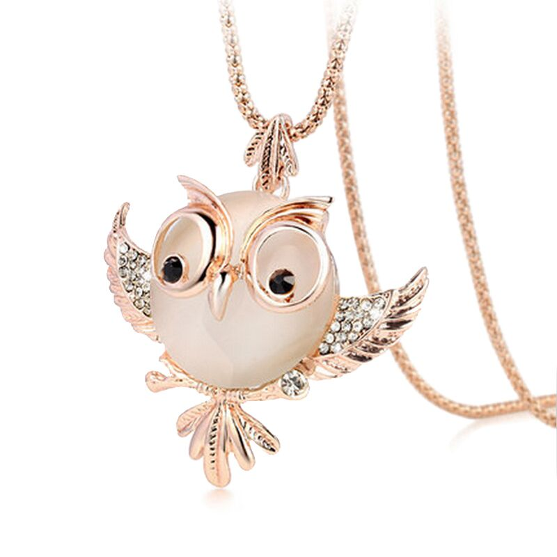 2016 New Trendy Chubby Owl Necklace Fashs